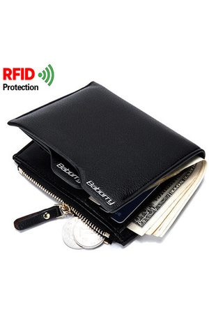 Newchic RFID Antimagnetic 6 Card Holders Wallet Business PU Leather Coin Bag For Men