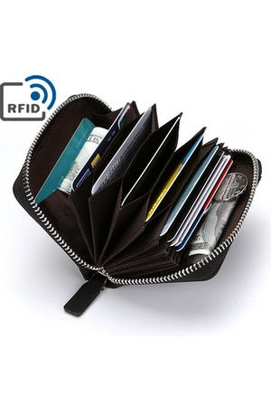 Newchic Men Wallets - RFID Antimagnetic PU Leather Wallet 10 Card Holders Coin Bag