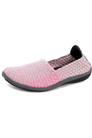 Newchic Color Match Knitting Elastic Slip On Outdoor Flat Shoes For Women