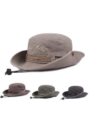 Newchic Men Hats - Mens Summer Washed Anti-UV Visor Fisherman Hat Bucket Hats Outdoor Climbing Travel Sunscreen Caps