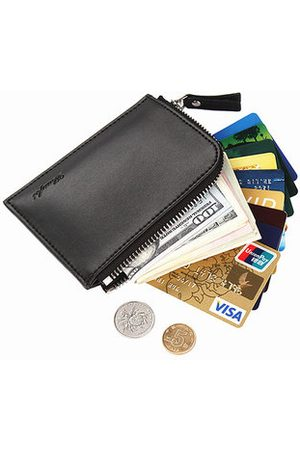 Newchic Business Casual Coin Bag Pu Leather Wallet Portable Card Holder Coin Bag For Men