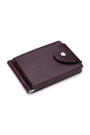 Newchic Business Pu Leather Wallet 6 Card Slots Card Holder Hasp Coin Bag For Men