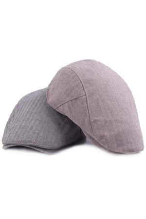 Newchic Men Vintage Cotton Stripe Newsboy Beret Cap Autumn Travel Casual Sunscreen Hat