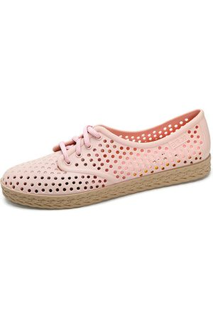 Newchic Lace Up Hollow Out Beach Sandals Flat Casual Shoes For Women