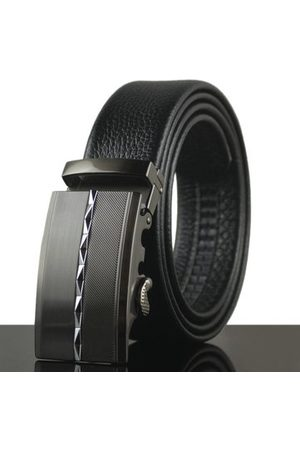 Newchic Mens Diamond Business Cowhide Leather Belt