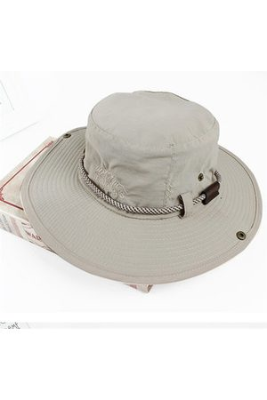 Newchic Men Outdoor Breathable Visor Bucket Hats Fisherman Climbing Embroidery Sunshade Cap