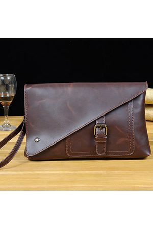 Newchic Retro Business Clutch Bag Pu Casual Big Capacity Wallet Phone Bag Purse For Men