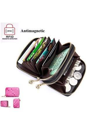 Newchic RFID Genuine Leather Card Holders Credit Card Wallet Leather Coin Purse
