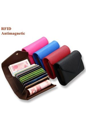 Newchic RFID Microfiber Leather Multi-slots 13 Card Slots Card Holder Pure Coin Bags