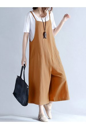 Newchic Loose Strap Pocket Overall Jumpsuits