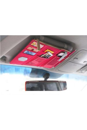 Newchic Car Multi-functional Sun Shield Clip Decorated Oxford Card Holder Storage Bag