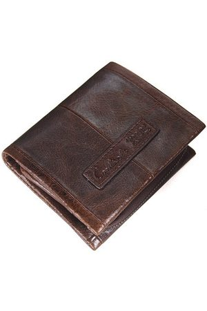 Newchic Men Wallets - Genuine Leather Business Vintage Wallet 5 Card Holders Detachable Coin Bag For Men