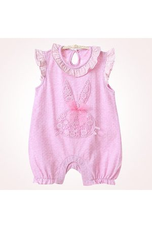 Newchic Cute Baby Solid Sleeveless Crawling Rompers