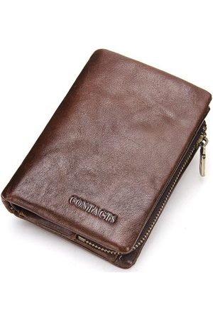 Newchic Genuine Leather Wallet Business Vintage 9 Card Holders Detachable Coin Bag For Men