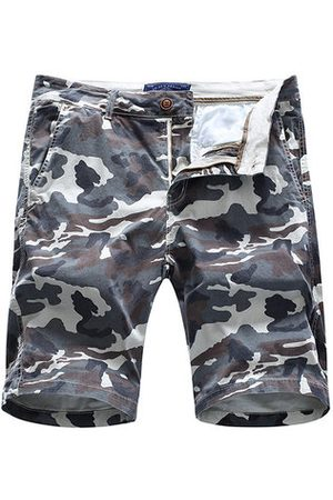 Newchic Men Slim Pants - Mens Summer Cotton Breathable Camo Printed Knee Length Slim Fit Casual Shorts
