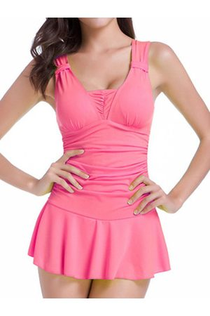 Newchic Sleeveless Cute Boysuit Skirt Ruffle One Piece Bathing Swimwear