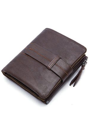 Newchic Ekphero Men Vintage Genuine Leather Wallet 11 Card Slot Coin Holder