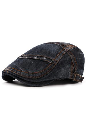 Newchic Mens Summer Denim Beret Caps Casual Fashion Visor Cowboy Hats Forward Hat Adjustable