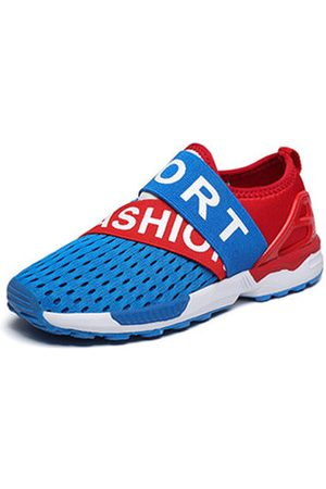 Newchic Boys Breathable Hollow-out Mesh Soft Flat Casual Sneakers
