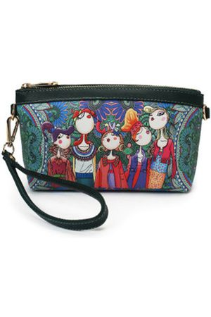 Newchic Women PU Leather Clutches Bag Forest Style Phone Bag Crossbody Bag