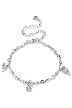 Newchic YUEYIN Women's Anklet Silver Crown Rhinestone Anklet