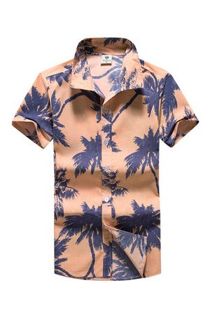 Newchic Casual Summer Hawaiian Style Printing Breathable Dress Shirts for Men