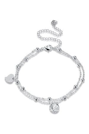 Newchic YUEYIN Women's Anklet Sweet Heart Silver Anklet