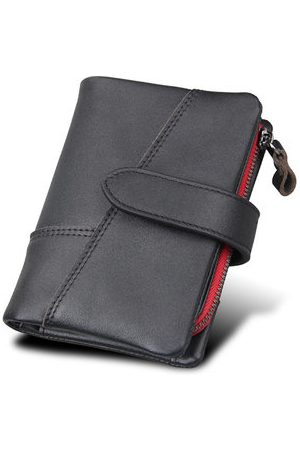 Newchic RFID 10 Card Holders Vintage Genuine Leather Coin Bag Casual Wallet For Men