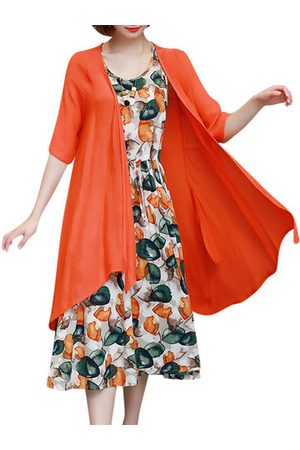 Newchic Women Casual Dresses - Casual Sleeveless Printed Dresses Two-piece Outfits For Women