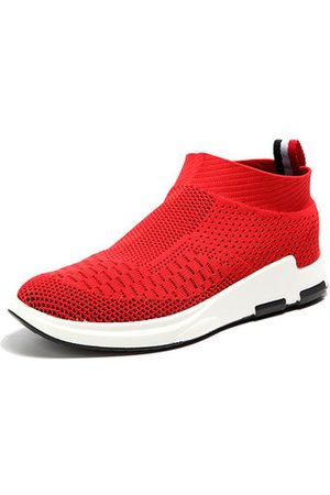 Newchic Men Flyknit Mesh Fabric Breathable Sock Trainers Sport Casual Sneakers