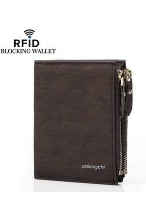 Newchic RFID 8 Card Holders Vintage PU Leather Vertical Coin Bag Casual Wallet For Men