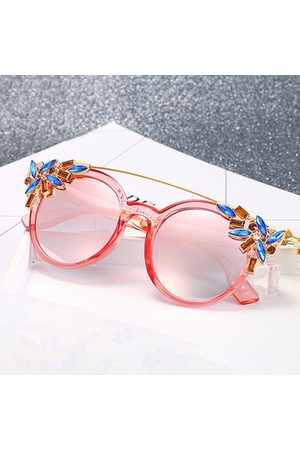 Newchic Women Cat Eye Anti-UV Sunglasses Vintage Brand Designer Crystal Diamond Frame Sunglasses