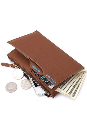 Newchic 11 Card Holders Vintage PU Leather Zipper Coin Bag Casual Wallet For Men