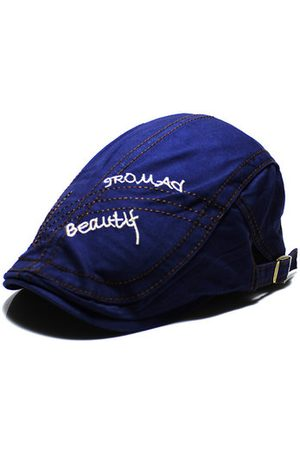 Newchic Men Hats - Retro Embroidery Cotton Beret Hat Travel Casual Forward Hat