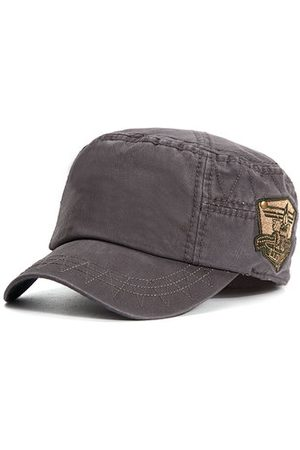 Newchic Mens Cotton Embroidered Logo Flat Top Hats Outdoor Casual Military Exercise Visor Baseball Caps
