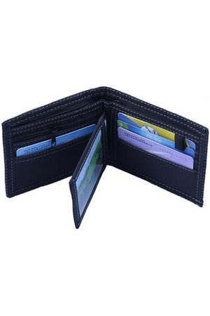 Newchic 6 Card Holders Vintage Stitching Denim Coin Bag Casual Wallet For Men
