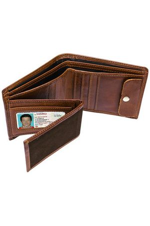 Newchic Men Wallets - Genuine Leather Multi-card Holder Wallet Vintage Casual Multi-functional Card Bag For Men