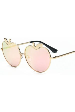 Newchic Women Sunglasses - Women Vintage Apple Heart Shaped Polarized Sunglasses UV400 Anti-UV Sunscreen Glasses