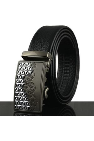 Newchic 125-130CM Men Business Genuine Leather Belt First Layer Of Leather Automatic Buckle Belt