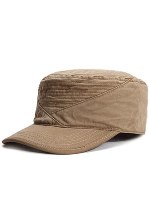 Newchic Mens Unisex Cotton Solid Pattern Military Baseball Hat Classic Casual Visor Flat Top Cap Adjustable