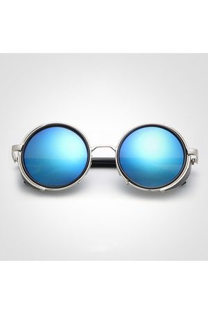 667889eaf7 Newchic Women Men Retro Steam Punk Round UV Protection Sunglasses Casual  Travel Sunscreen Eyeglasses