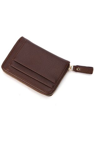 Newchic PU Leather Purse Leisure Retro Multi-card Holder Zipper Wallet For Men