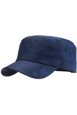 Newchic Mens Light Breathable Quick-dry Flat Peak Hat Outdoor Waterproof Anti-UV Plaid Sun Army Hat