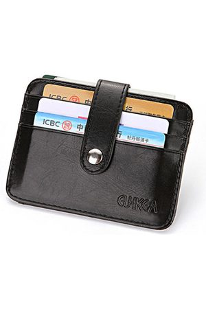 Newchic PU Leather Card Pack 4 Card Slots Wallet Coin Bag For Men