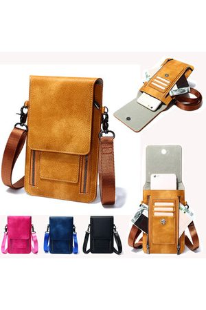 Newchic Vintage PU Leather Card Holder 6inch Phone Bag