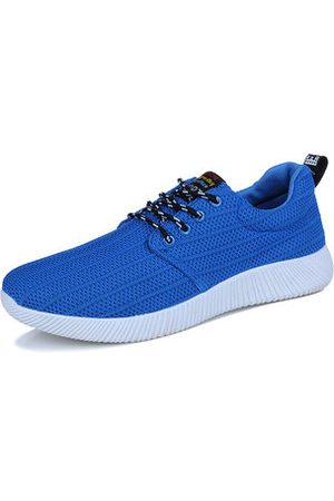 Newchic Men Mesh Fabric Light Weight Sport Running Shoes Breathable Casual Sneakers