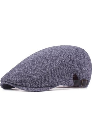 Newchic Mens Solid Cotton Flat Beret Hat Outdoor Casual Sport Visor Winter Warm Forward Hat Adjustable