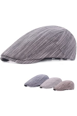 Newchic Men Hats - Simple Stripes Cotton Beret Cap Travel Leisure Forward Hat