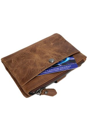 Newchic Genuine Leather Wallet Vintage Leisure Coin Bag Card Holder For Men