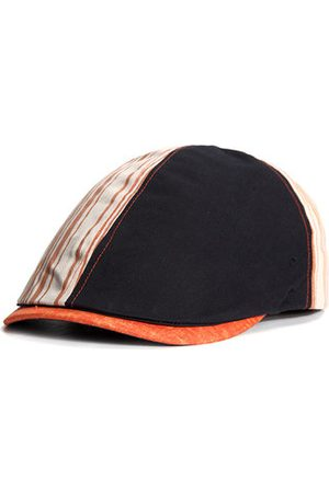 Newchic Men Summer Stripes Cotton Beret Cap Outdoor Sports Travel Sunscreen Hat